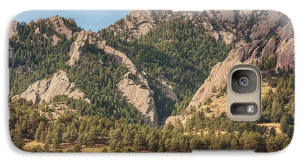 Galaxy Case featuring the photograph Boulder Colorado Rocky Mountain Foothills by James BO Insogna
