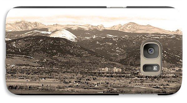 Boulder Colorado Sepia Panorama Poster Print Galaxy S7 Case