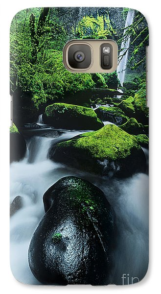 Galaxy Case featuring the photograph Boulder Elowah Falls Columbia River Gorge Nsa Oregon by Dave Welling