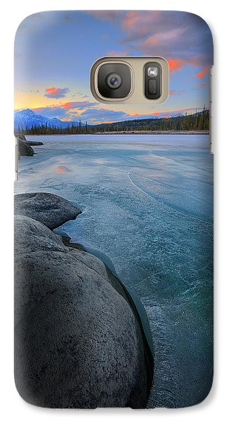 Galaxy Case featuring the photograph Boulders And Ice On The Athabasca River by Dan Jurak