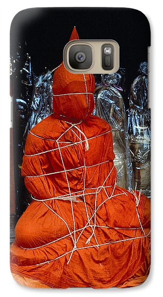 Galaxy Case featuring the photograph Bound Buddha by Carl Purcell
