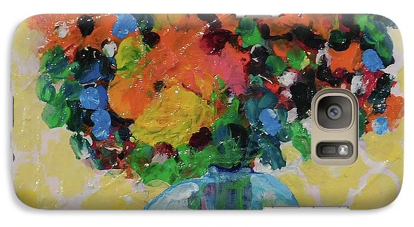 Galaxy Case featuring the painting Bouquet-a-day #7 Original Acrylic Painting Free Shipping 59.00 By Elaine Elliott by Elaine Elliott