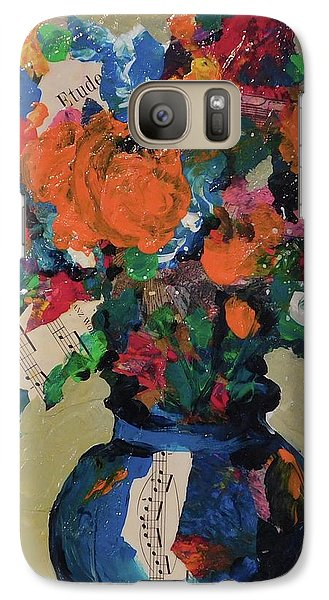 Galaxy Case featuring the painting Bouquet-a-day #8 Original Mixed Media Painting On Canvas 70.00 Incl Shipping By Elaine Elliott by Elaine Elliott