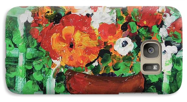 Galaxy Case featuring the painting Bouquet A Day Floral Painting Original 59.00 By Elaine Elliott by Elaine Elliott