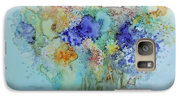 Galaxy Case featuring the painting Bouquet Of Blue And Gold by Joanne Smoley