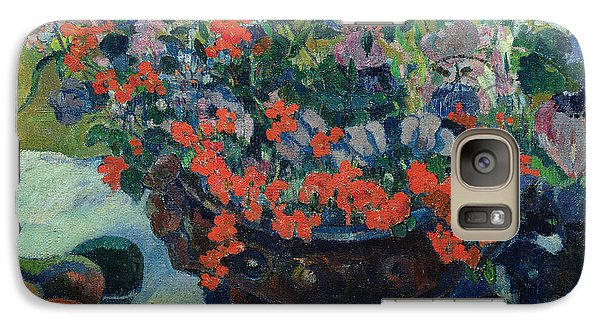 Mango Galaxy S7 Case - Bouquet Of Flowers by Paul Gauguin