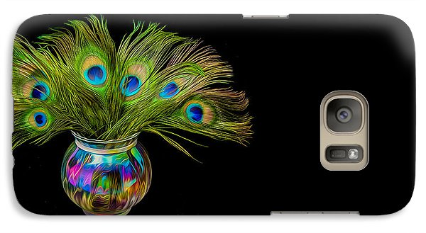 Galaxy S7 Case featuring the photograph Bouquet Of Peacock by Rikk Flohr