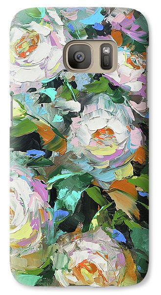 Galaxy Case featuring the painting Bouquet Of Peonies  by Dmitry Spiros