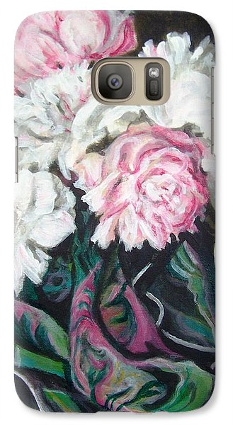 Galaxy Case featuring the painting Bouquet Of Peonies by Laura Aceto