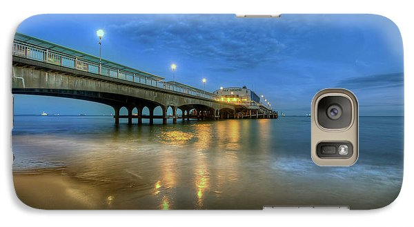 Galaxy Case featuring the photograph Bournemouth Pier Blue Hour by Yhun Suarez
