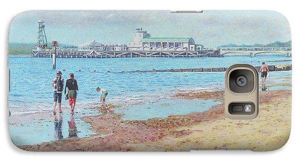 Galaxy Case featuring the painting Bournemouth Pier Late Summer Morning by Martin Davey
