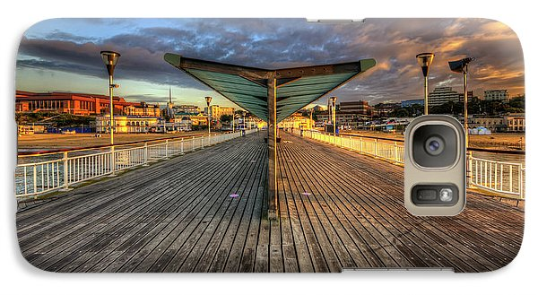 Galaxy Case featuring the photograph Bournemouth Pier Sunrise 2.0 by Yhun Suarez