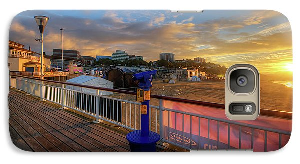 Galaxy Case featuring the photograph Bournemouth Pier Sunrise by Yhun Suarez