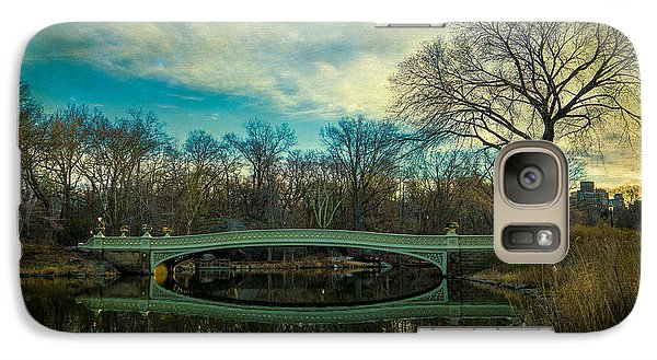 Galaxy Case featuring the photograph Bow Bridge Reflection by Chris Lord