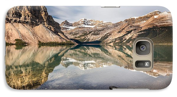 Galaxy Case featuring the photograph Bow Lake Glorious Reflection by Pierre Leclerc Photography