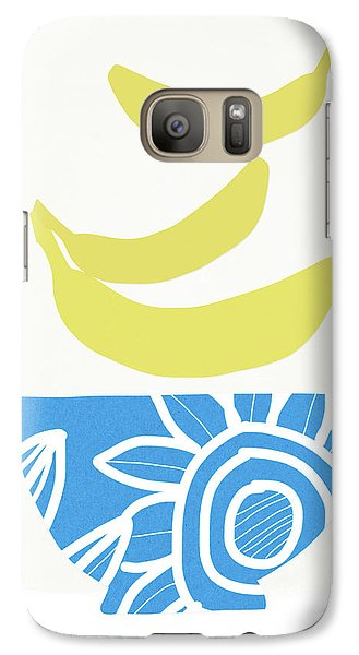 Banana Galaxy S7 Case - Bowl Of Bananas- Art By Linda Woods by Linda Woods
