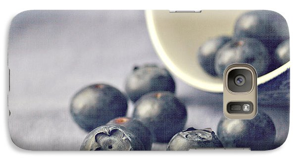 Bowl Of Blueberries Galaxy Case by Lyn Randle