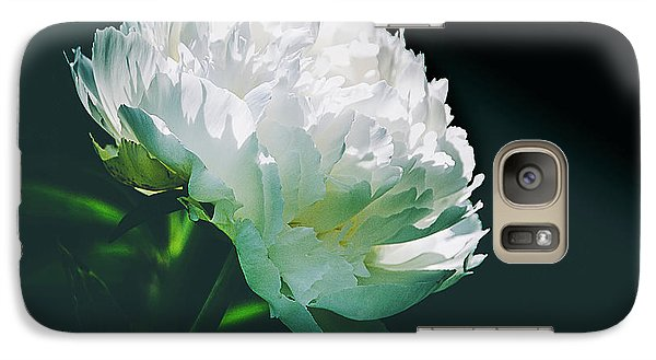 Galaxy Case featuring the photograph Bowl Of Cream Peony by Julie Palencia