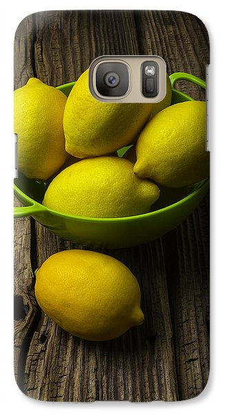 Bowl Of Lemons Galaxy S7 Case by Garry Gay