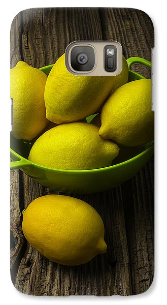 Bowl Of Lemons Galaxy Case by Garry Gay