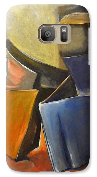 Galaxy Case featuring the painting Box Scape by Nadine Dennis