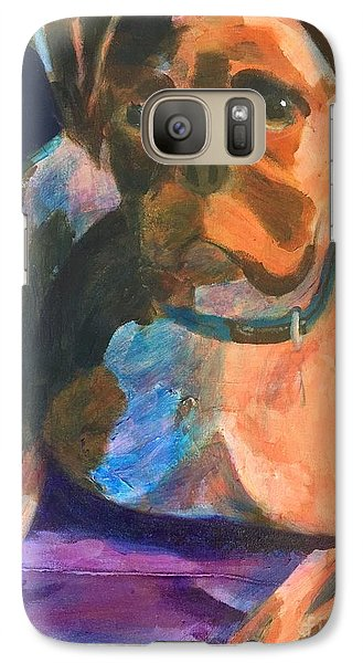 Galaxy Case featuring the painting Boxer by Donald J Ryker III