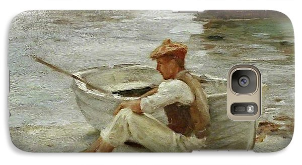 Galaxy Case featuring the painting Boy And Boat  by Henry Scott Tuke
