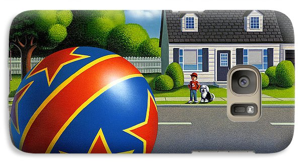 Galaxy Case featuring the painting Boy And The Ball  by Robin Moline