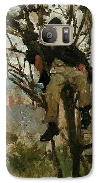 Galaxy Case featuring the painting Boy In A Tree by Henry Scott Tuke
