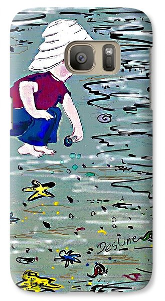 Galaxy Case featuring the painting Boy On Beach by Desline Vitto