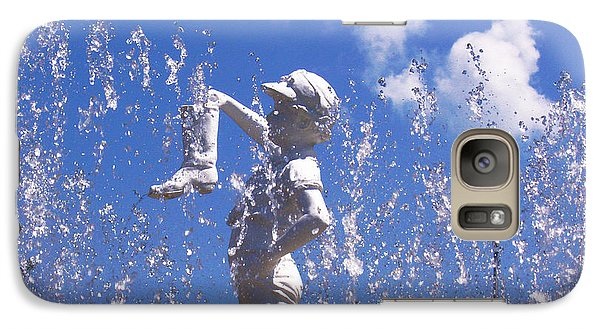 Galaxy Case featuring the photograph Boy With The Boot by Shawna Rowe