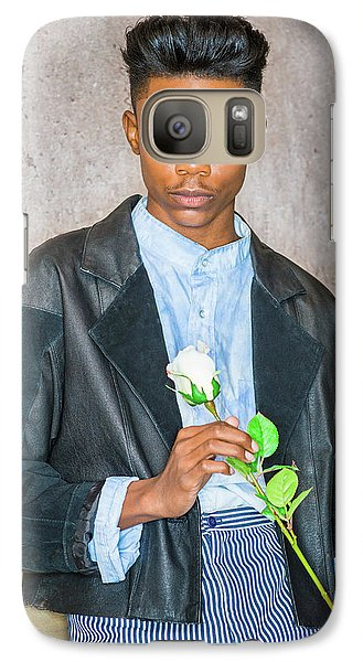 Boy With White Rose 15042618 Galaxy S7 Case