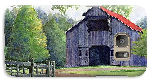 Galaxy Case featuring the painting Boyd Mill Barn by Janet King