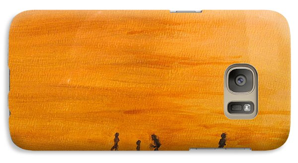 Galaxy Case featuring the painting Boys At Sunset by Ian  MacDonald