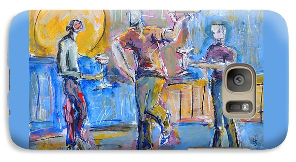 Galaxy Case featuring the painting Boys Night Out by Mary Schiros