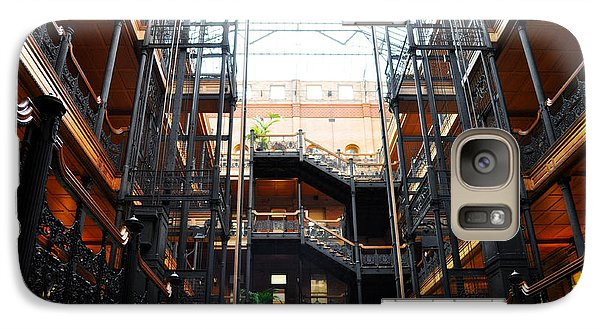 Galaxy Case featuring the photograph Bradbury Building Los Angeles by Kyle Hanson