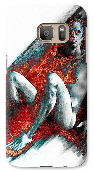 Galaxy Case featuring the drawing Bradley With Mood Texture by Paul Davenport