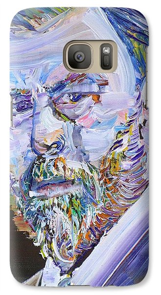 Galaxy Case featuring the painting Bram Stoker - Oil Portrait by Fabrizio Cassetta