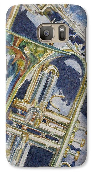 Trombone Galaxy S7 Case - Brass Winds And Shadow by Jenny Armitage
