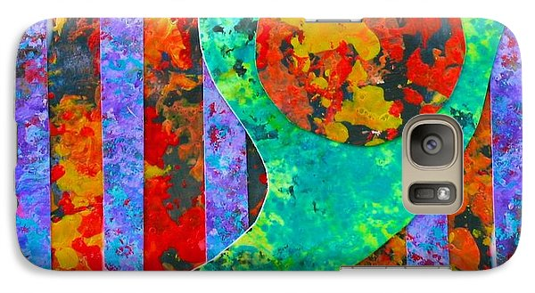 Galaxy Case featuring the painting Brave New World by Polly Castor