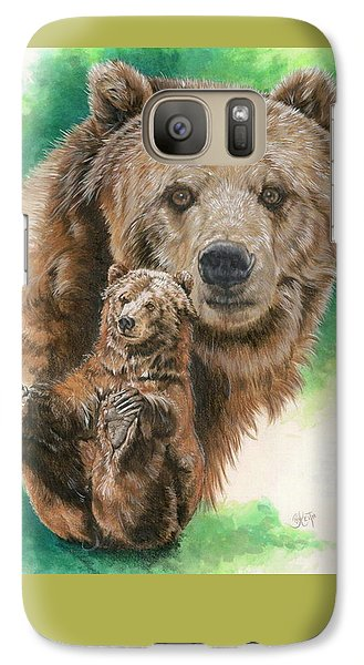 Galaxy Case featuring the painting Brawny by Barbara Keith