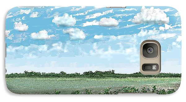 Galaxy Case featuring the digital art Brazoria County Field by Kerry Beverly