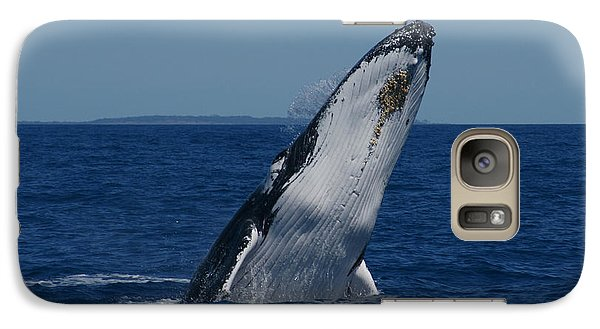 Galaxy Case featuring the photograph Breaching Humpback Whale by Gary Crockett