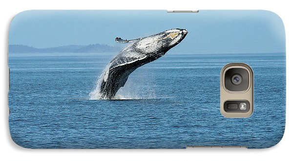 Breaching Humpback Whales Happy-3 Galaxy S7 Case