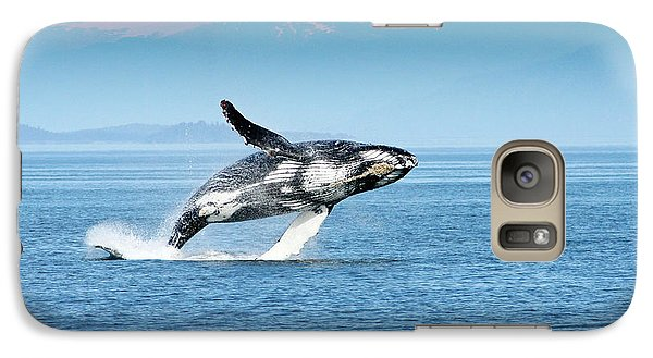 Breaching Humpback Whales Happy-4 Galaxy S7 Case