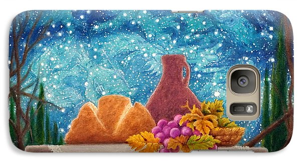 Galaxy Case featuring the painting Bread And The Fruit Of The Vine by Matt Konar