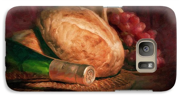 Bread And Wine Galaxy S7 Case by Tom Mc Nemar