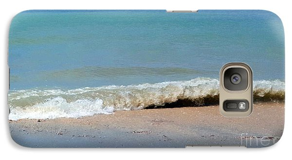 Galaxy Case featuring the photograph Break In The Sand by Jeanne Forsythe
