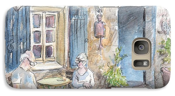 Galaxy Case featuring the painting Breakfast Al Fresco by Tilly Strauss