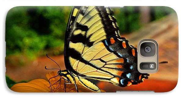 Galaxy Case featuring the photograph Breakfast At The Gardens - Swallowtail Butterfly 005 by George Bostian
